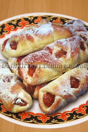 Блюдо башкирской национальной кухни - Асыкауыз с курагой