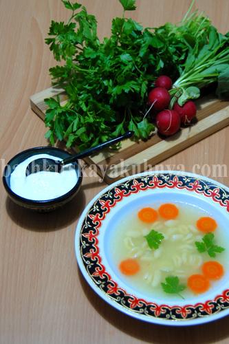 Сумар ашы - Суп с клецками