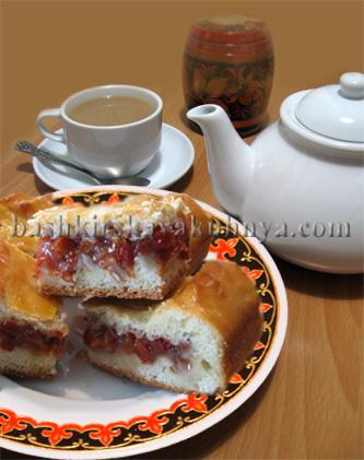 Рецепт блюда башкирской национальной кухни - Пирог с калиной