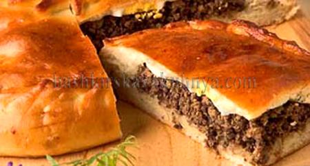 Рецепт блюда башкирской национальной кухни - пирог с ливером