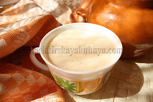 Рецепт блюда башкирской национальной кухни - топленое молоко