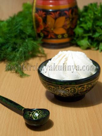 Рецепт блюда башкирской национальной кухни - Эремсек (Творог)