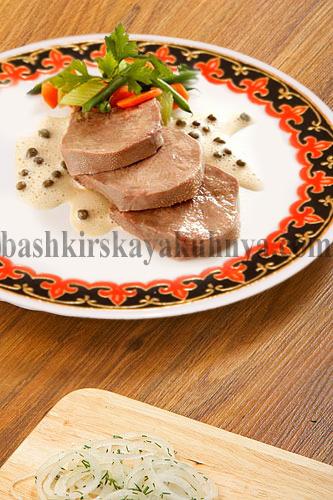 Рецепт блюда башкирской национальной кухни - отварной язык